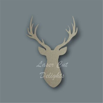 Stag Buck Head Outline 6mm / Laser Cut Delights