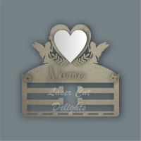 Combination Clip Bow Medal Hanger MIRROR with FAIRY SIDES / Laser Cut Delights