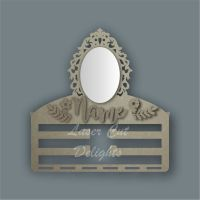 Combination Clip Bow Medal Hanger MIRROR with ORNATE / Laser Cut Delights