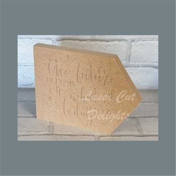 Arrow  Engraved - The future depends on what you do today 18mm / Laser Cut Delights