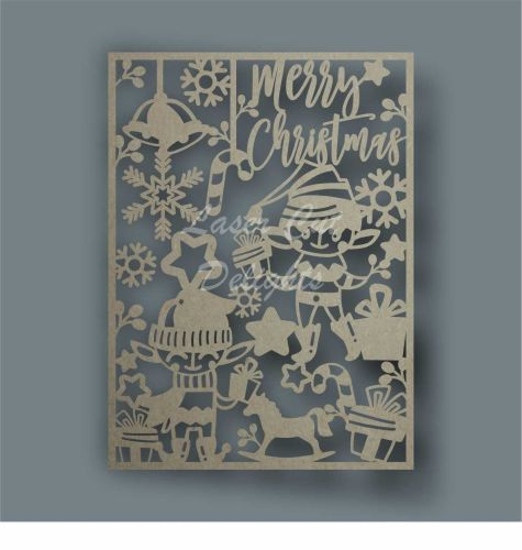 Christmas Elf Plaque Merry Christmas / Laser Cut Delights