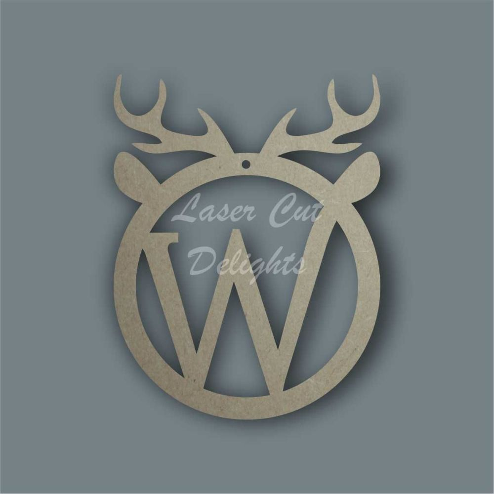 Bauble - Antlers with Initials / Laser Cut Delights