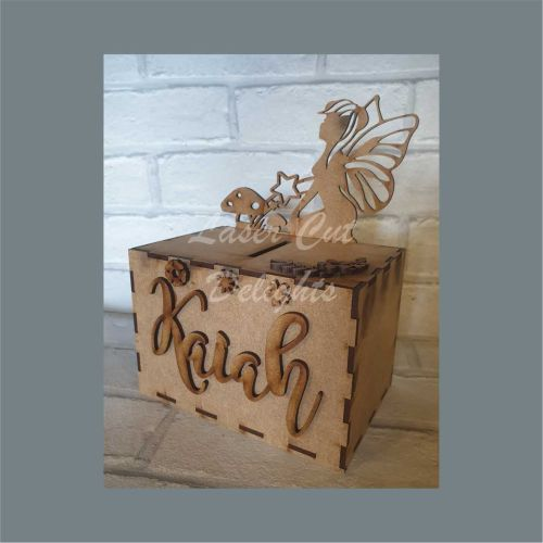 Money Box - Fairy 3mm 15x10x10cm