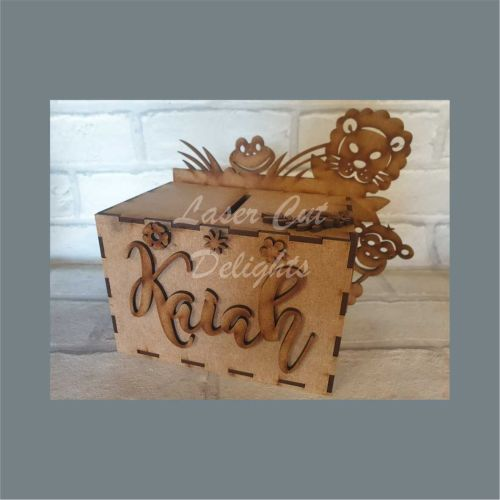 Money Box - Jungle Themed / Laser Cut Delights