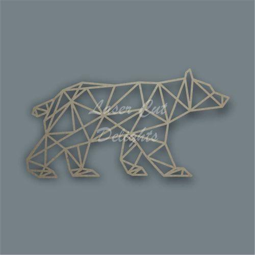 Geometric Bear Decor Laser Cut Wall Piece