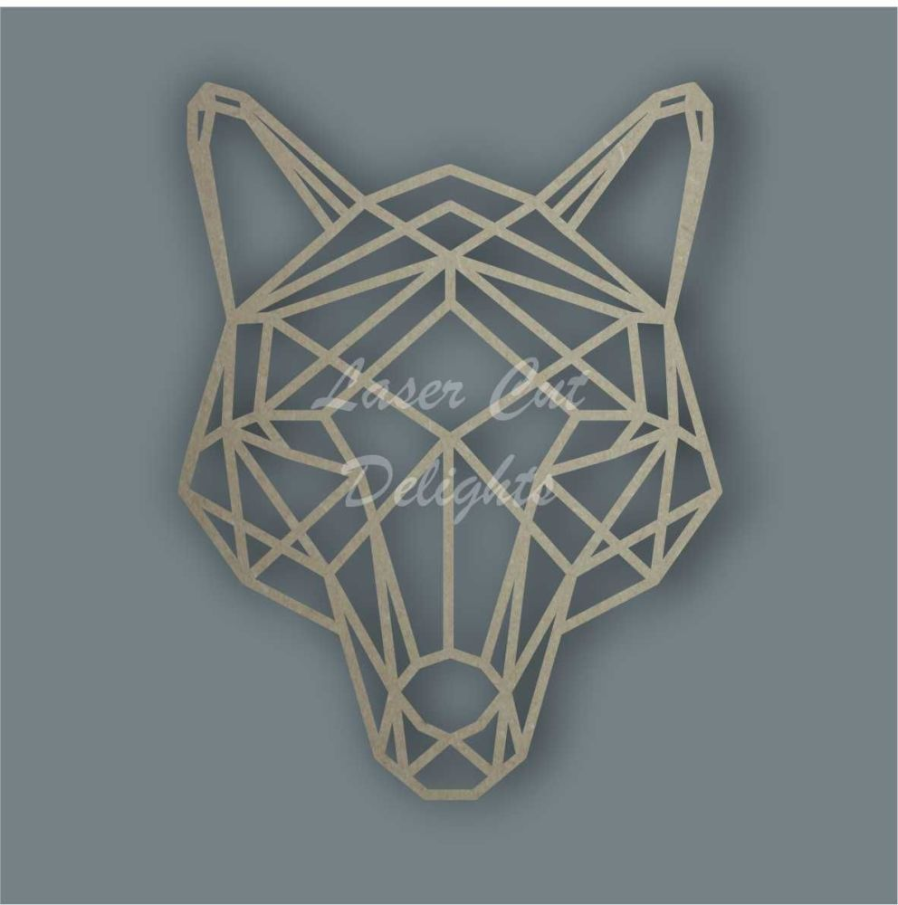 Geometric Fox / Laser Cut Delights