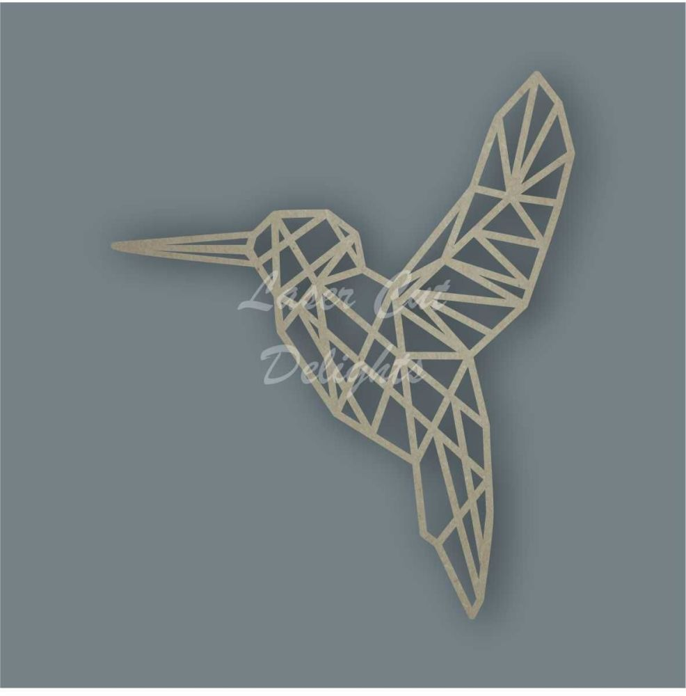 Geometric Humming Bird / Laser Cut Delights