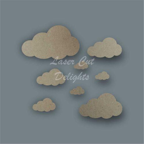 Cloud Shape Pack / Laser Cut Delights