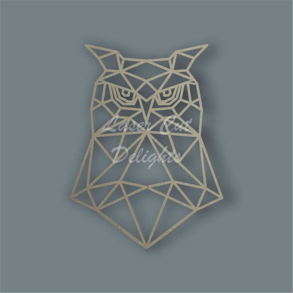 Geometric Owl Head / Laser Cut Delights