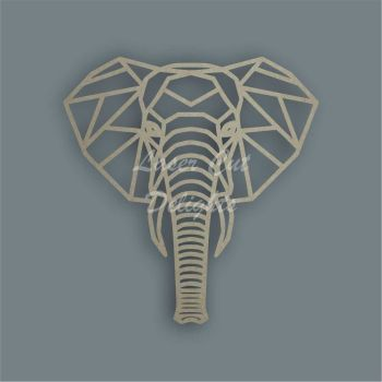 Geometric Elephant Head / Laser Cut Delights