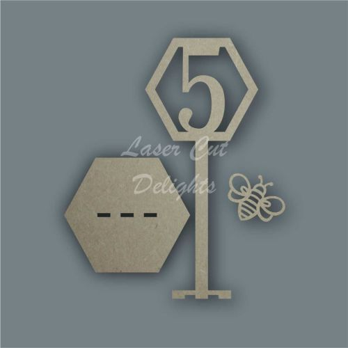 Bee Hive Table Number  / Laser Cut Delights