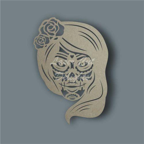 Sugar Skull Lady Stencil / Laser Cut Delights