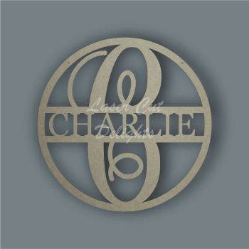 Large Hoop with Monogram Name / Laser Cut Delights