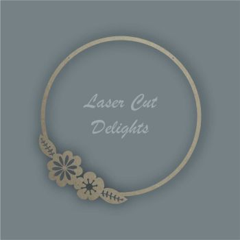 Large Hoop Flower Surround / Laser Cut Delights