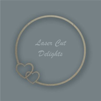 Large Hoop Hearts Surround / Laser Cut Delights
