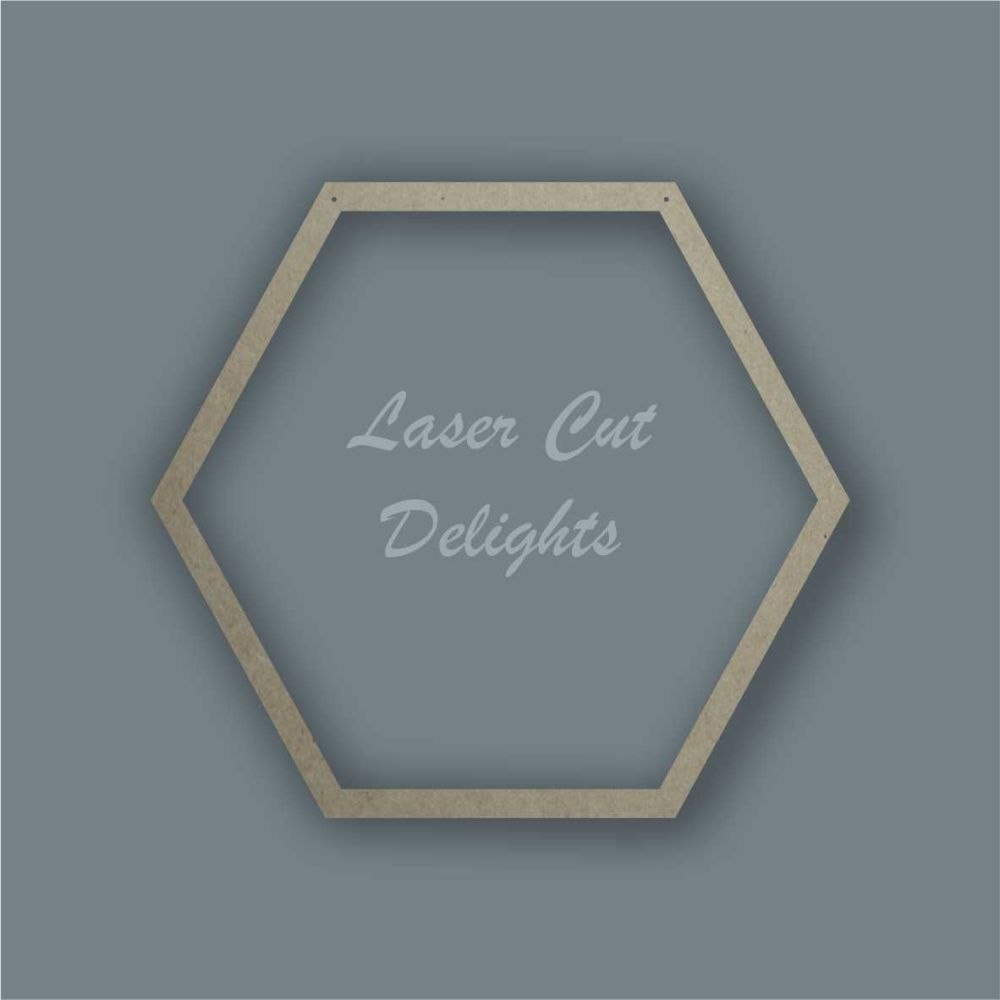 Large Hoop Surround Hexagon / Laser Cut Delights