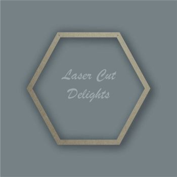 Large Hoop  Hexagon Surround / Laser Cut Delights