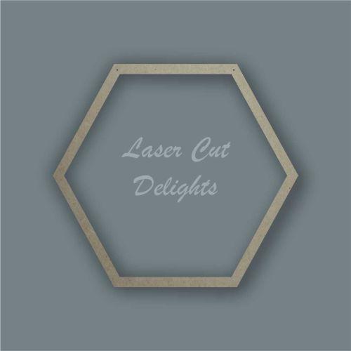 Large Hoop Surround Hexagon / Laser Cut Delights