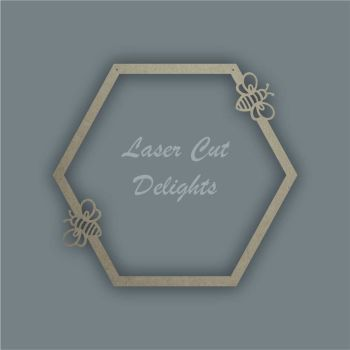 Large Hoop Hexagon Bee Surround / Laser Cut Delights