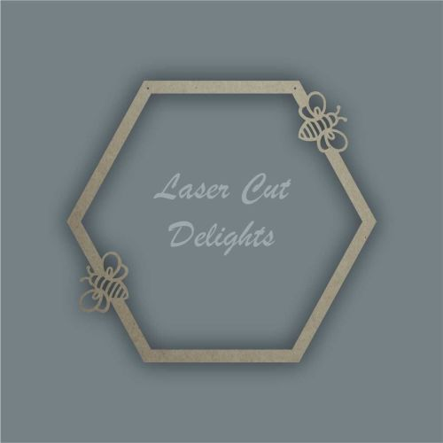 Large Hoop Surround Hexagon Bees / Laser Cut Delights