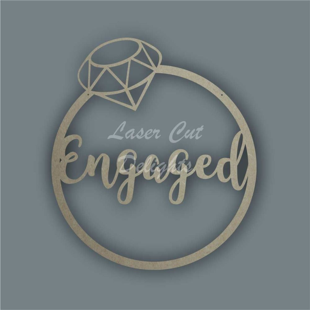 Large Hoop RING Engaged / Laser Cut Delights