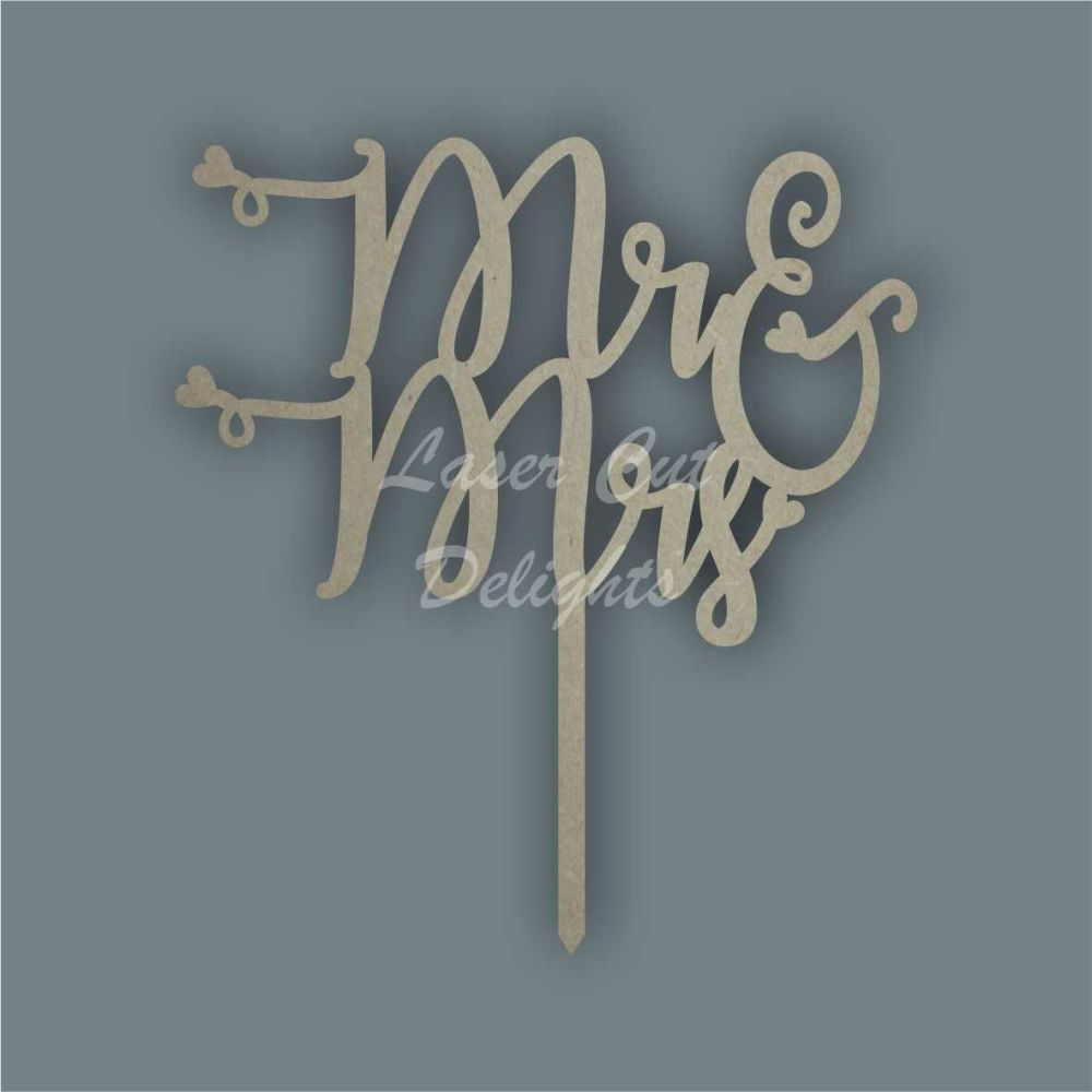Cake Topper - Mr & Mrs / Laser Cut Delights