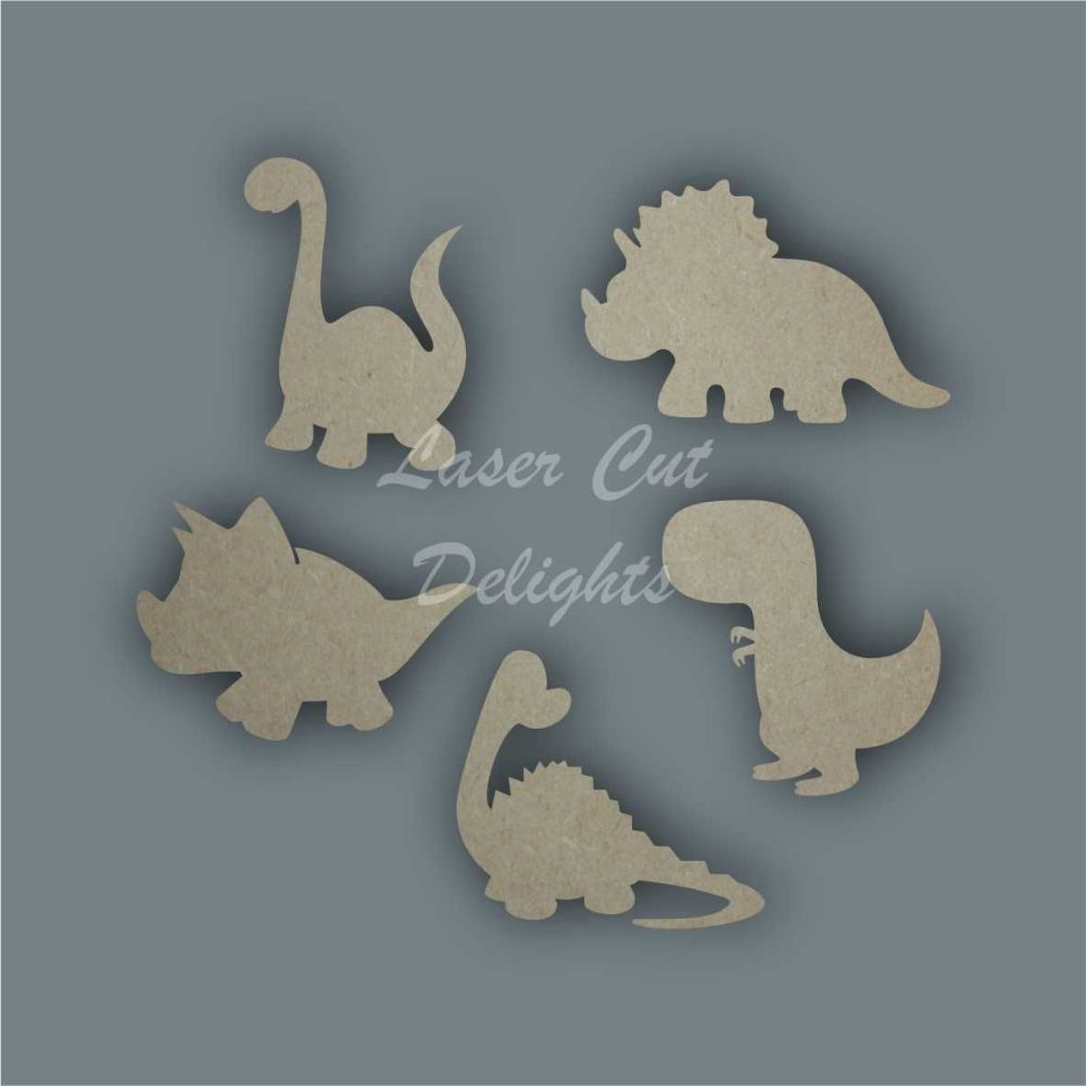 Dinosaur CUTE Shape Pack / Laser Cut Delights