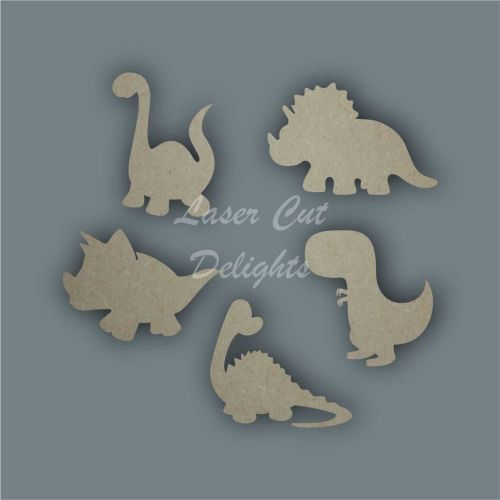 Dinosaur CUTE Shape Pack / Laser Cut Delights