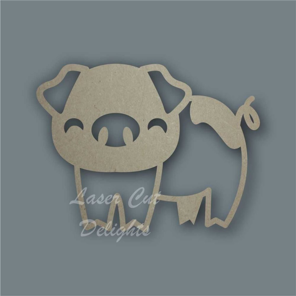 Pig Stencil / Laser Cut Delights