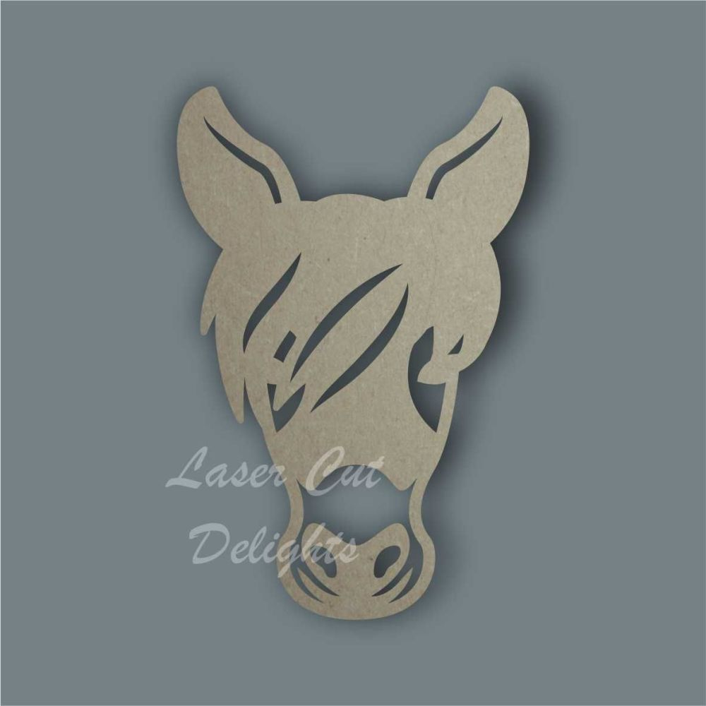 Donkey Face Stencil / Laser Cut Delights