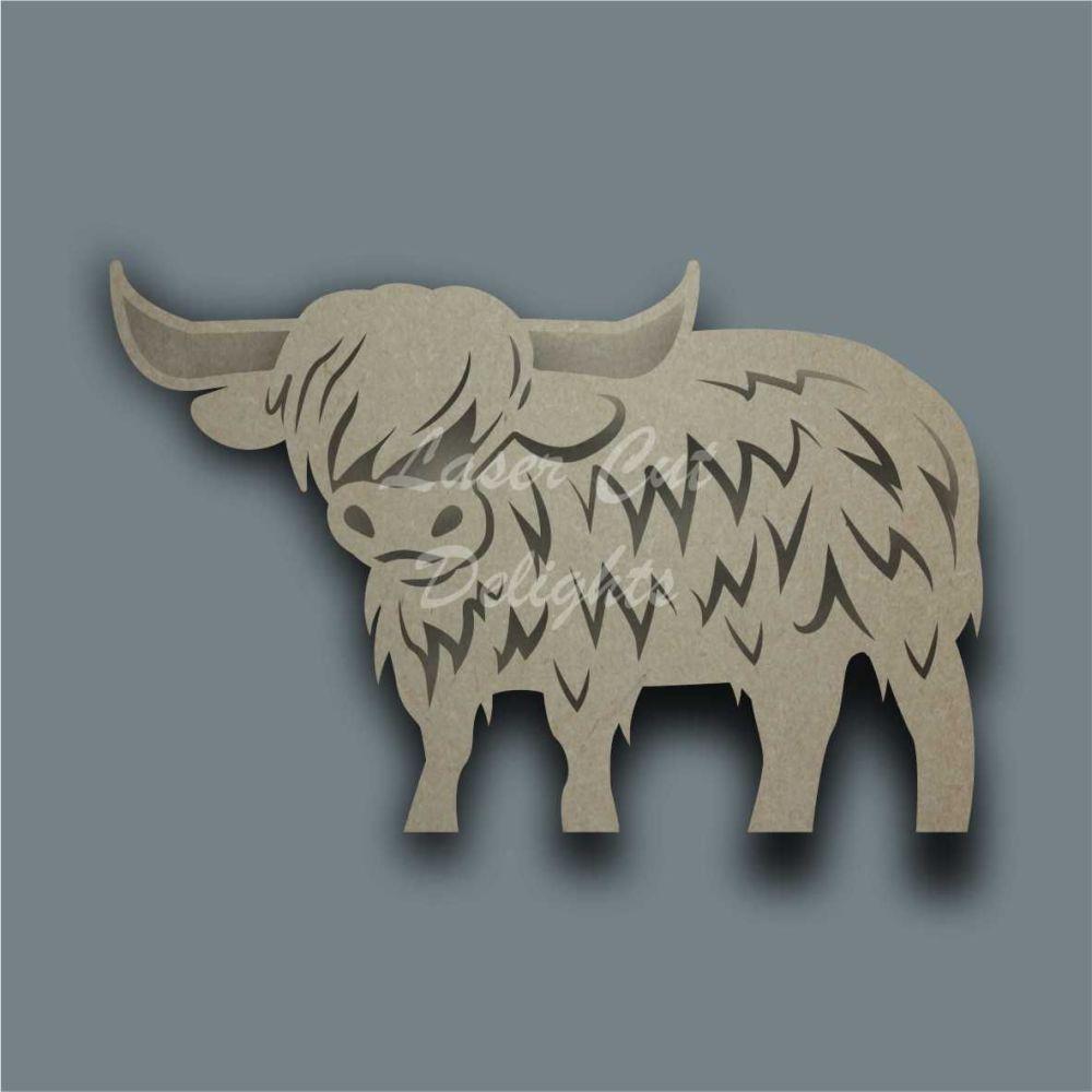 Highland Cow Body Stencil / Laser Cut Delights