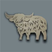 Highland Cow Body Stencil / Laser Cut Delights