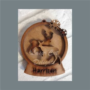 Layered Bauble - Stag & Deer / Laser Cut Delights