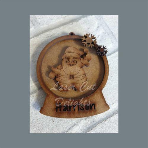 Layered Bauble - Waving Santa / Laser Cut Delights