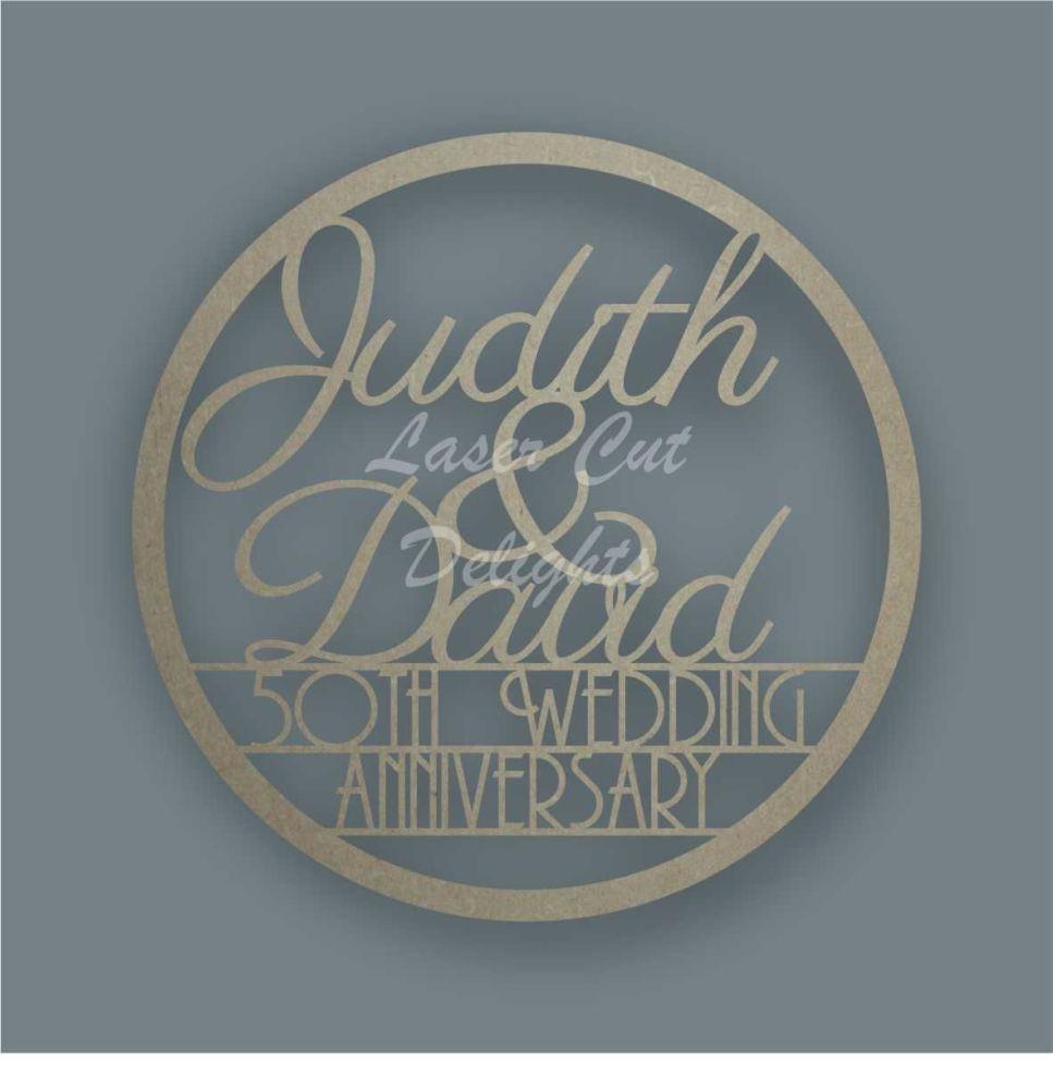 Large Hoop Names + Wedding Anniversary  / Laser Cut Delights