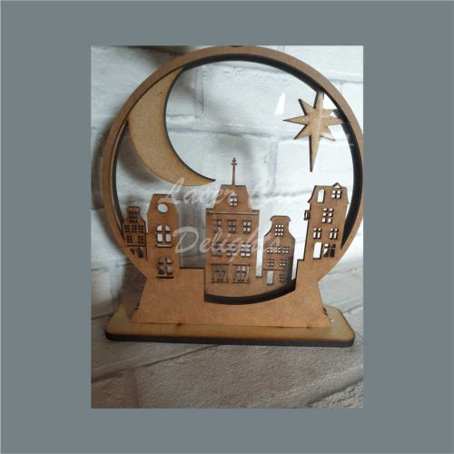 Snow Globe Street City Shaker / Laser Cut Delights