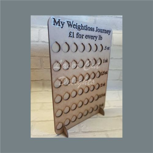 Weight Loss Countdown £'s for lbs / Laser Cut Delights