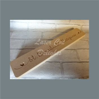 Engraved Rectangle Plaque with Wording 40x7cm / Laser Cut Delights