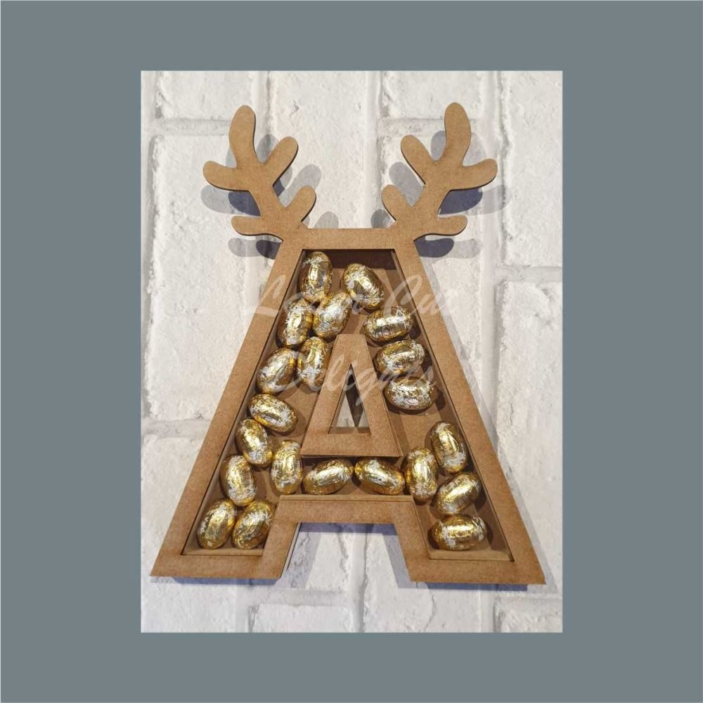 Fillable Any Letter ANTLER / Laser Cut Delights