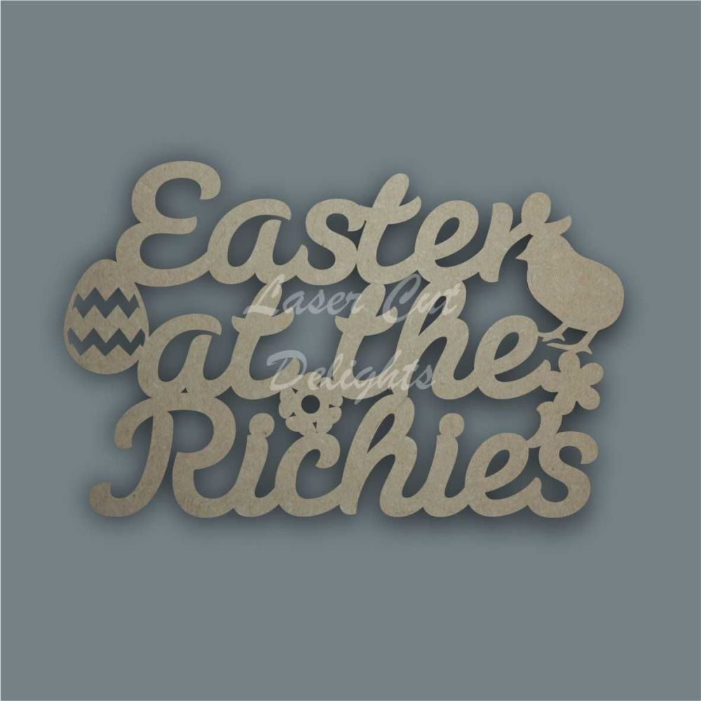 Easter At The...'your surname' 3mm 30cm