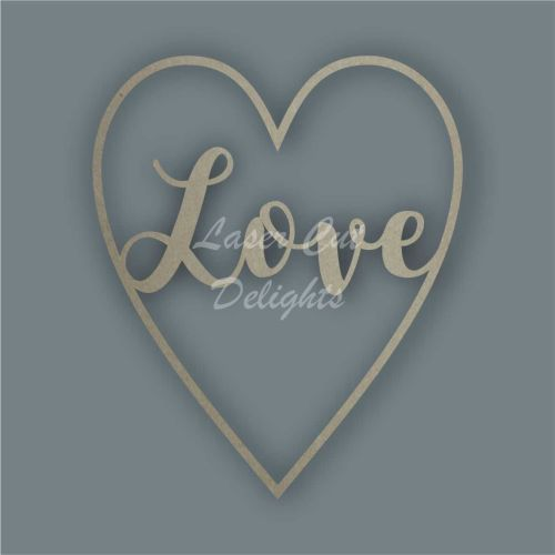 Large Heart LOVE / Laser Cut Delights