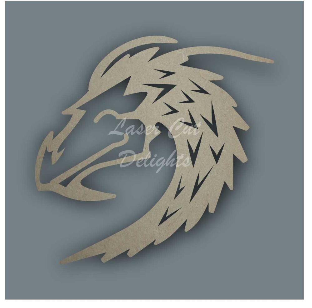 Dragon Head Stencil / Laser Cut Delights