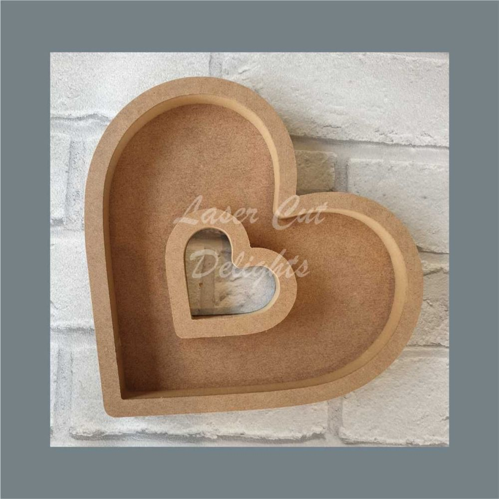 Open Fillable Heart With Hole (no acrylic) / Laser Cut Delights