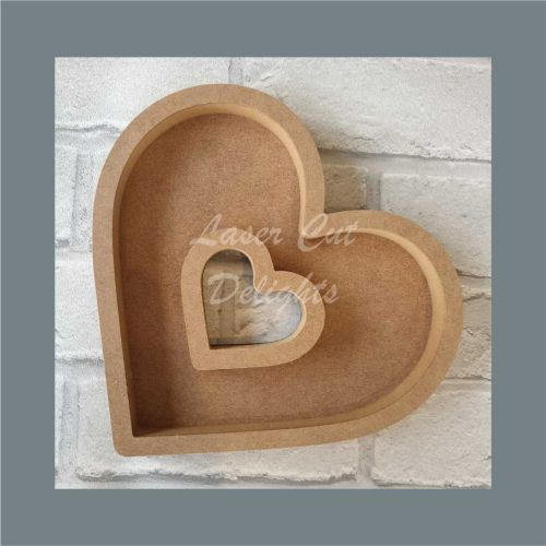 Open Fillable Heart With Hole Basic (no acrylic) / Laser Cut Delights