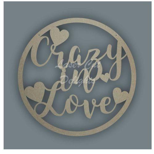 Large Hoop Crazy In Love / Laser Cut Delights