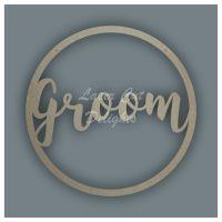 Large Hoop Groom / Laser Cut Delights