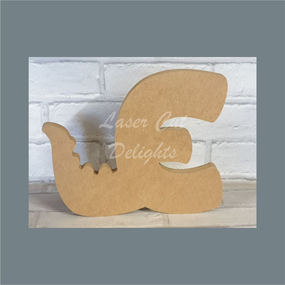 Tailed Letters Dinosaur Dragon / Laser Cut Delights