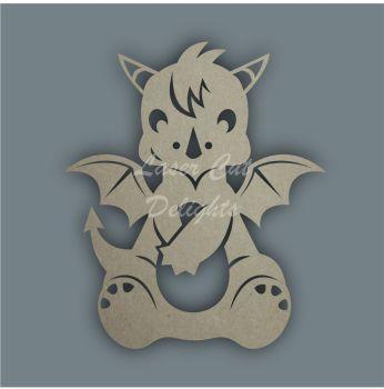 Dragon Sitting Stencil / Laser Cut Delights
