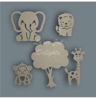 SAME AS WREATH Jungle Shape Pack / Laser Cut Delights