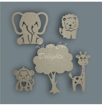 SAME AS WREATH Jungle Shape Pack / Laser Cut Delights